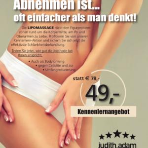 Aktion für das Kennenlernangebot der Lipomassage